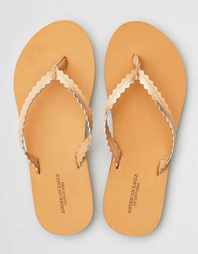 AE Wavy Leather Flip Flop