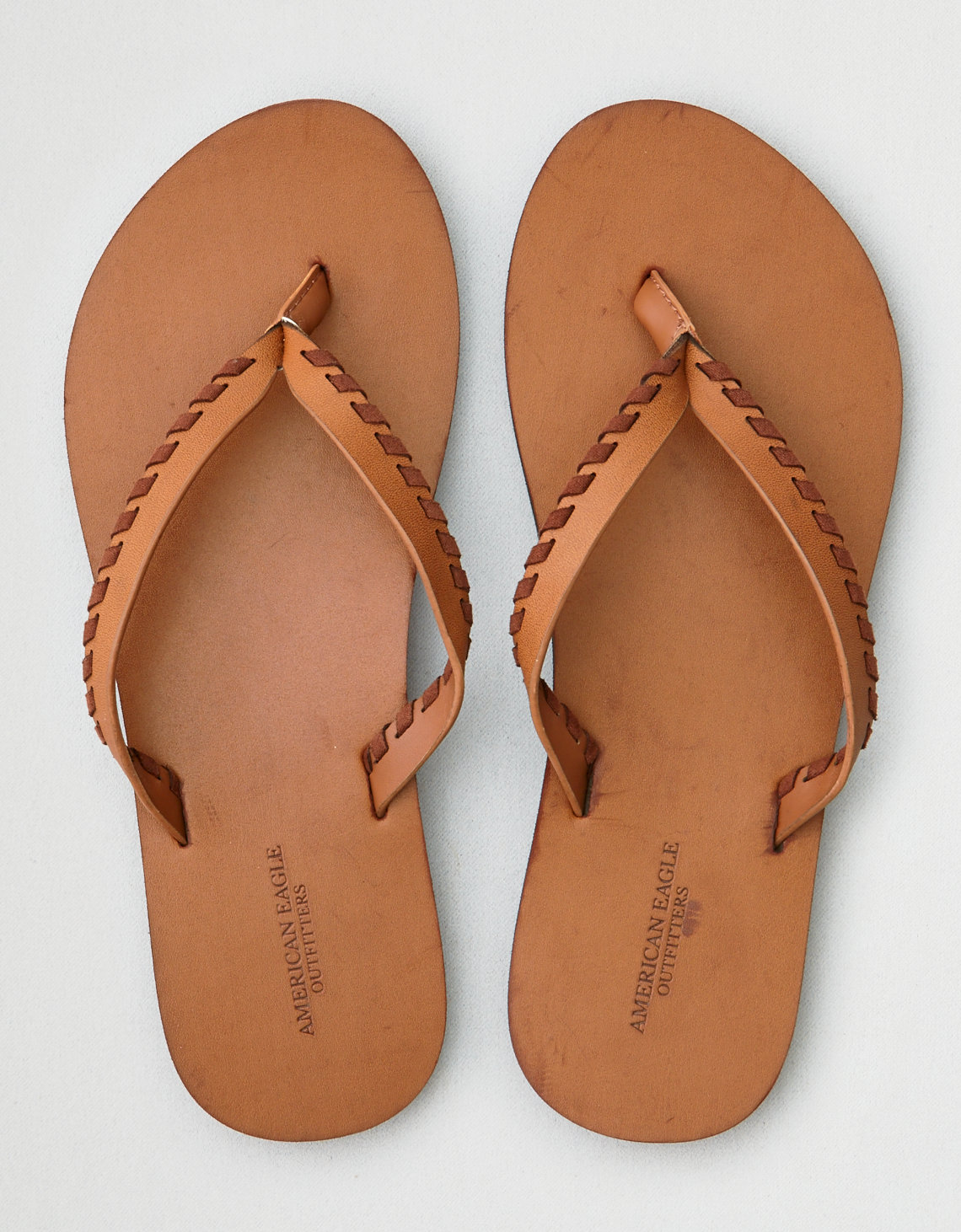AEO Whipstitch Leather Flip Flop. Placeholder image. Product Image