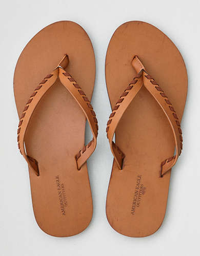 AE Whipstitch Leather Flip Flop