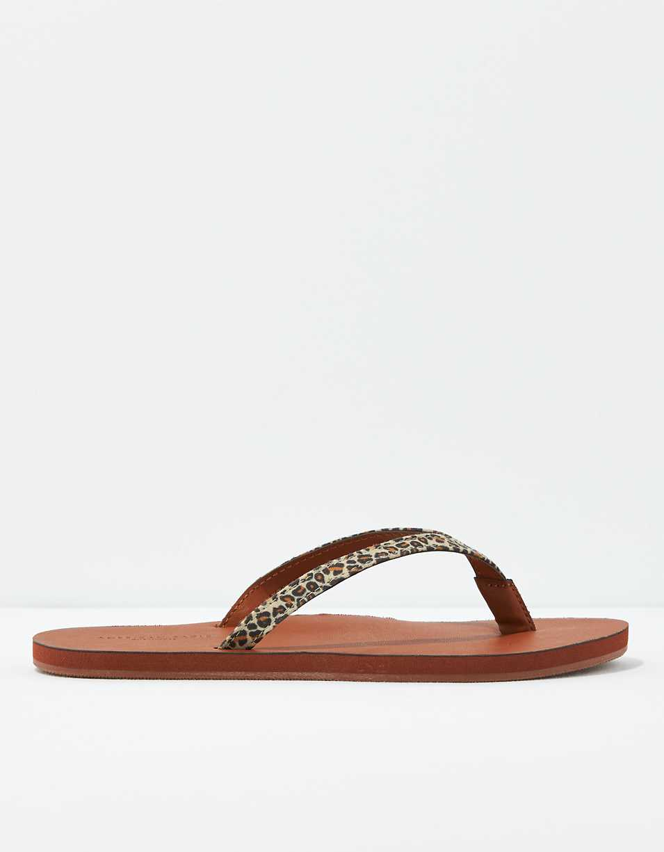 AE Leopard Flip Flop