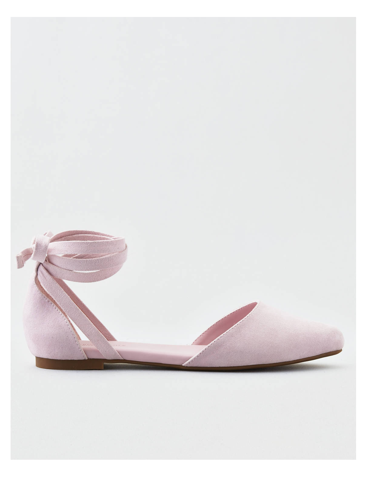 Display product reviews for AEO Ankle Tie Pointy Toe Dorsay Flat