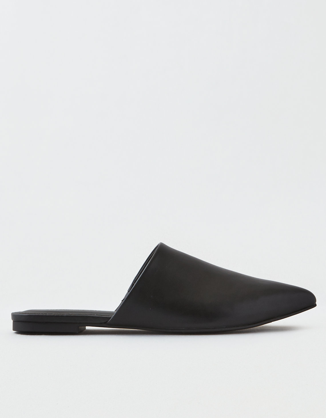 aeo pointed toe mule black american eagle outfitters