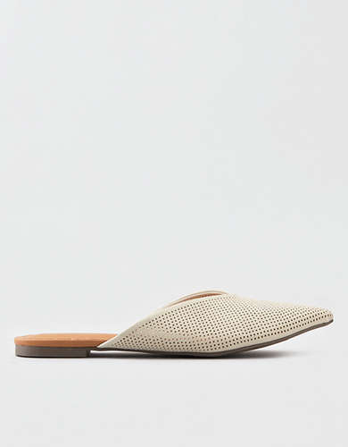 AEO V-Cut Pointed Toe Flat Mule