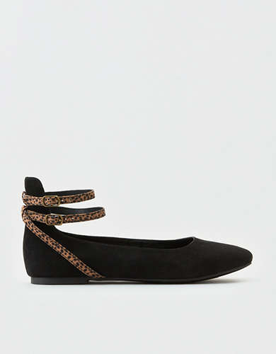 AEO Ankle Strap Round Toe Flat