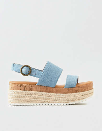 AEO Denim Double Strap Flatform