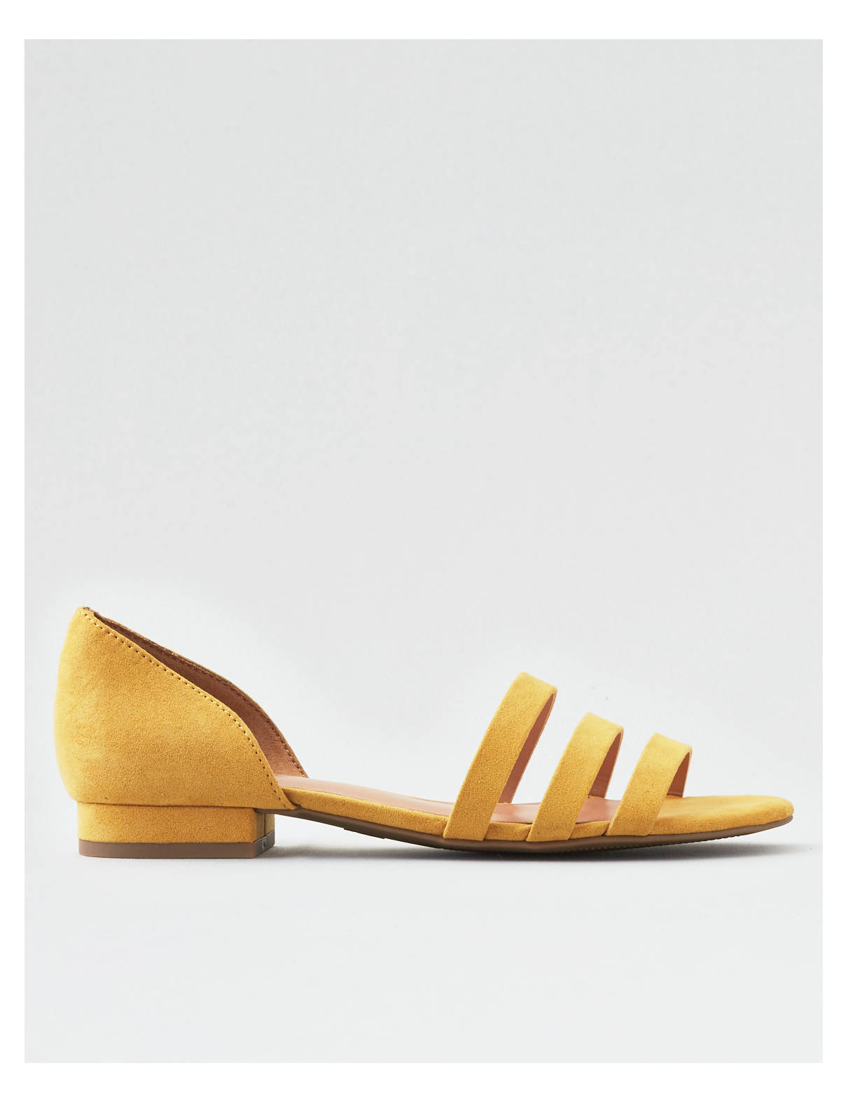Display product reviews for AEO STRAPPY PEEP TOE FLAT