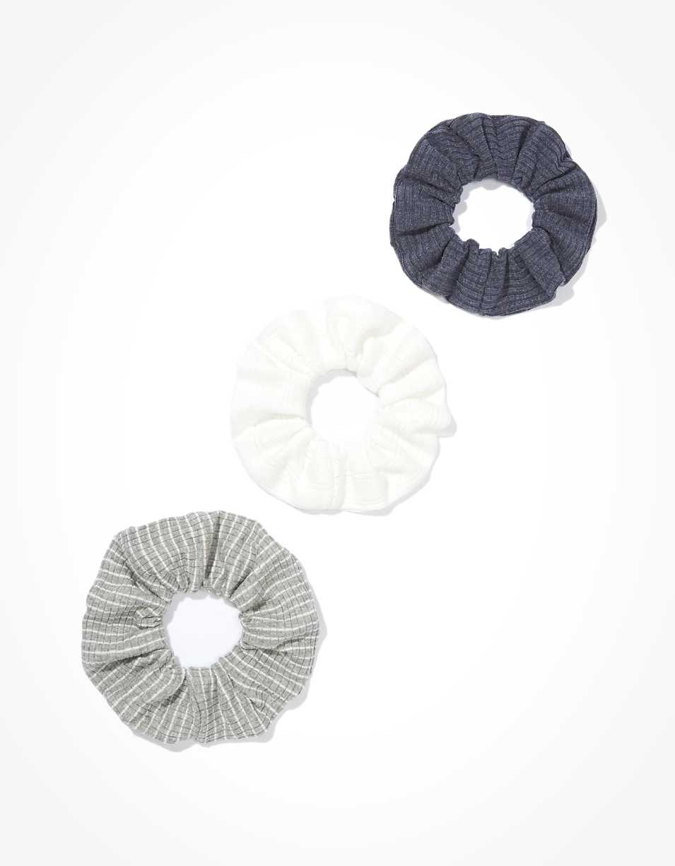 AEO Knit Striped Scrunchies 3-Pack