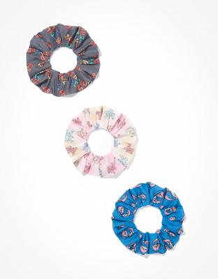 Набор из 3 обтянутых тканью резинок с принтом