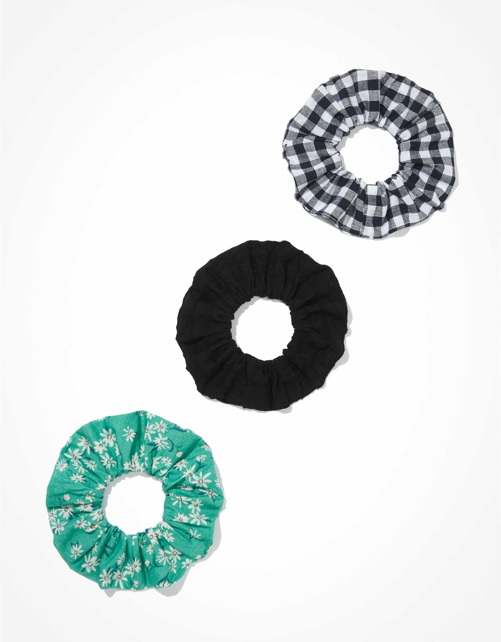 AEO Floral & Gingham Scrunchies 3-Pack