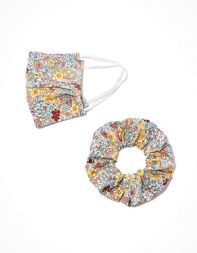 AEO Printed Masks + Scrunchies 2-Pack