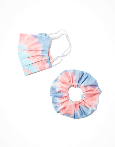 AEO Tie Dye Mask + Scrunchie Set