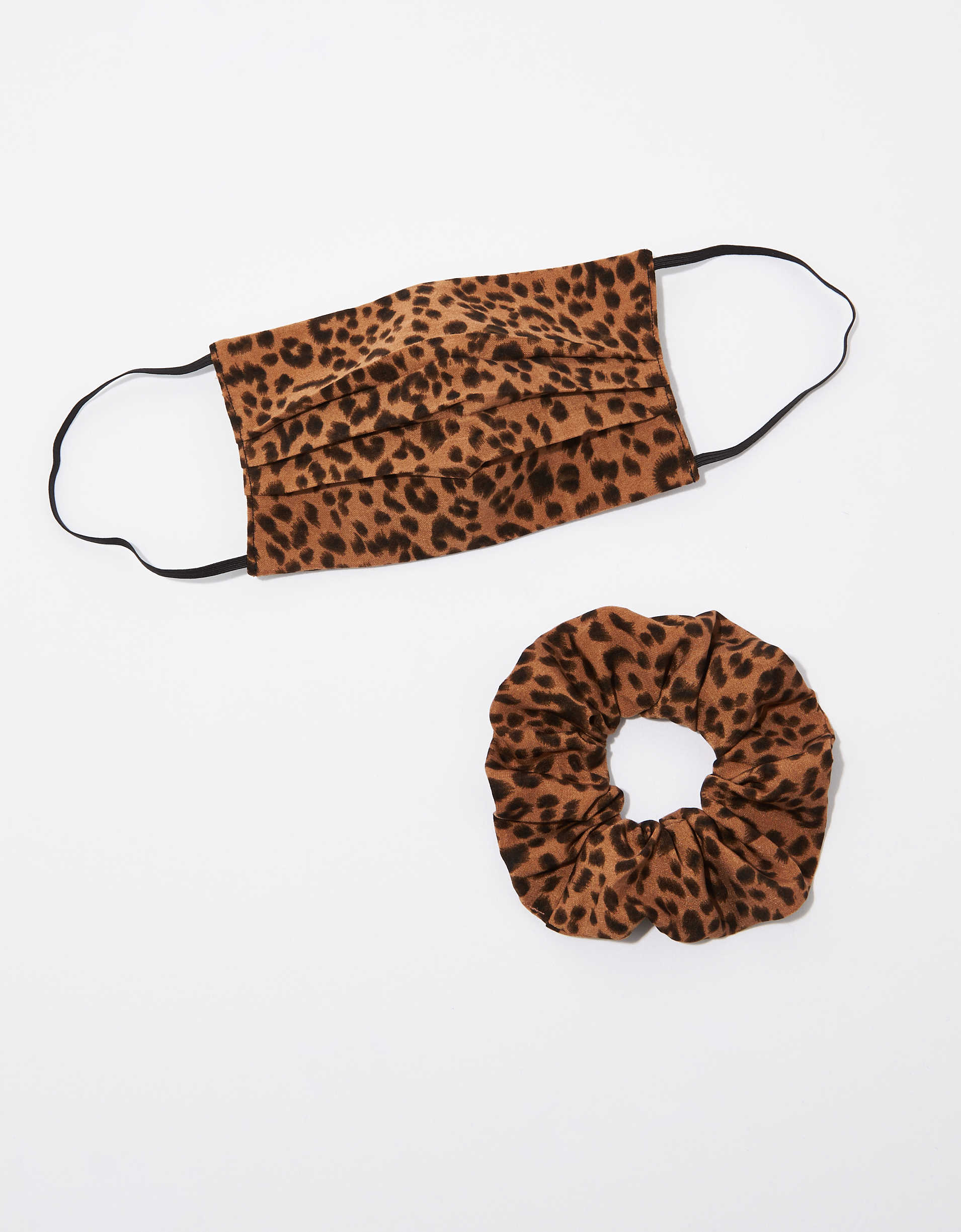 AEO Leopard Mask + Scrunchie