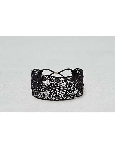 AEO Black Lace Headband  -