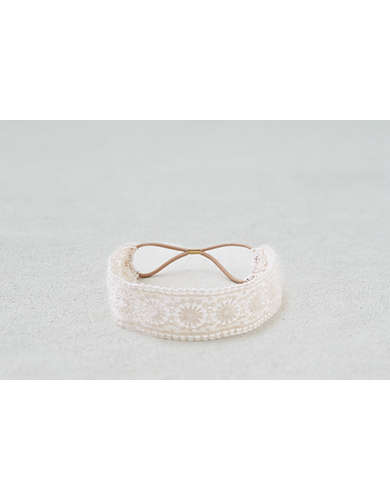 AEO Cream Lace Headband  -