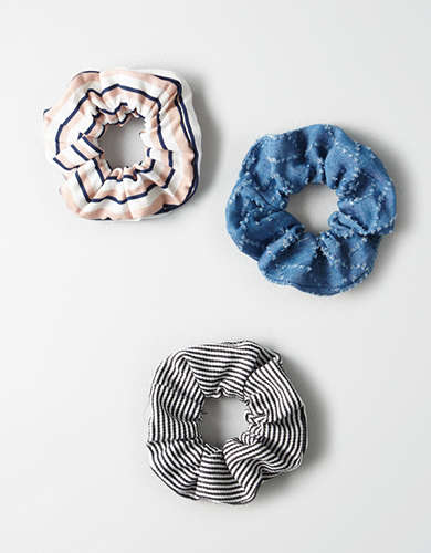 AEO Stripe Scrunchies -