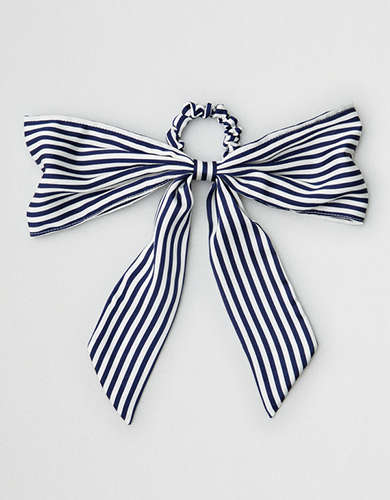 AEO Stripe Bow Hair Tie -