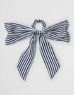 Aeo Stripe Bow Hair Tie by American Eagle Outfitters