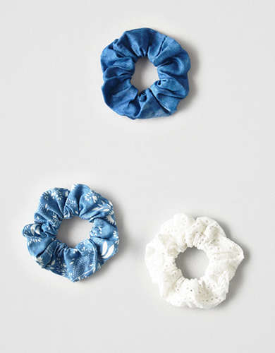 AEO Denim Scrunchie 3-Pack -