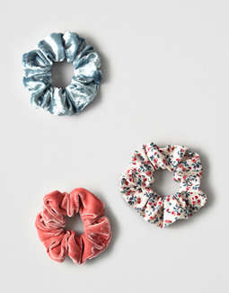 Aeo Floral And Velvet Scrunchie Pack by American Eagle Outfitters