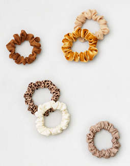 Aeo Skinny Scrunchie 6 Pack by American Eagle Outfitters