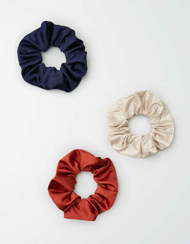 AEO Neutral Stripe Scrunchie 3-Pack  -