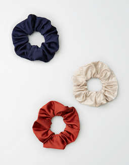 Aeo Neutral Stripe Scrunchie 3 Pack by American Eagle Outfitters