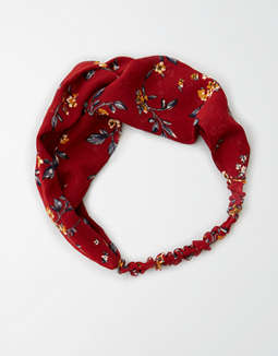 Aeo Red Floral Soft Headband by American Eagle Outfitters