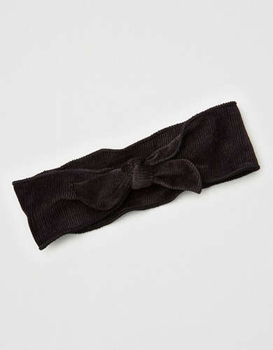 AEO Black Bow Soft Headband