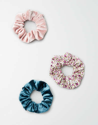 AEO  Scrunchie Light Floral 3-Pack  -