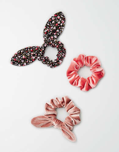 AEO Scrunchie Dark Floral 3-Pack -