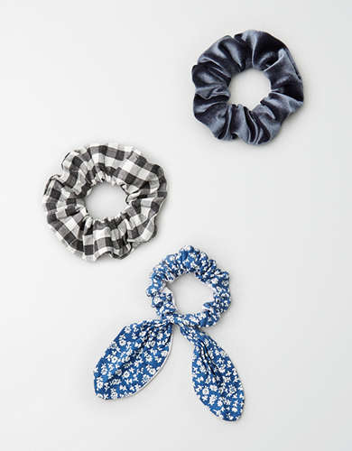 AEO Scrunchie Gingham 3-Pack -