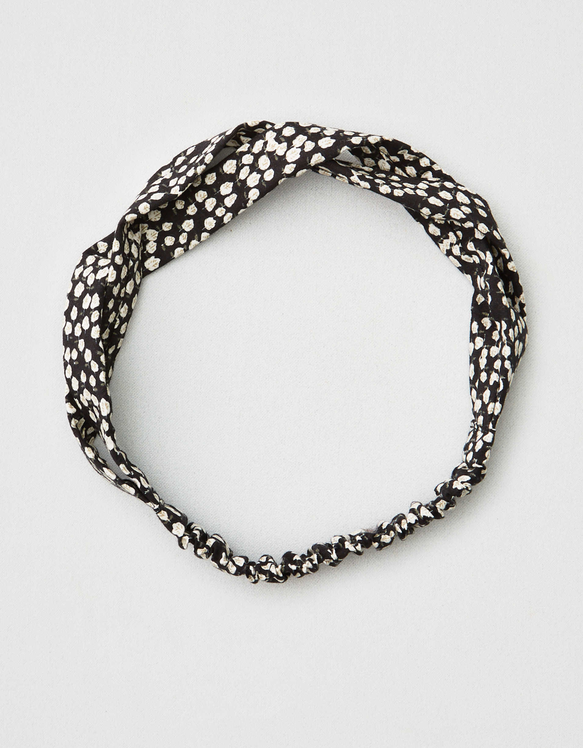 AEO Black Ditsy Headband