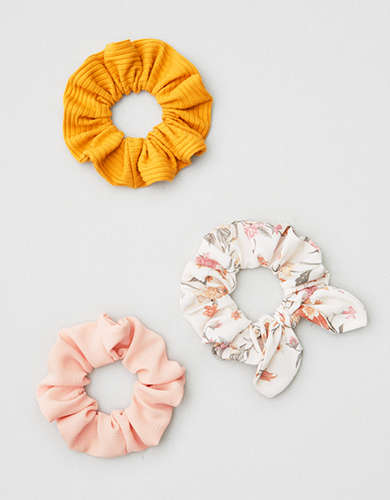 AE Mustard Scrunchie 3-Pack -