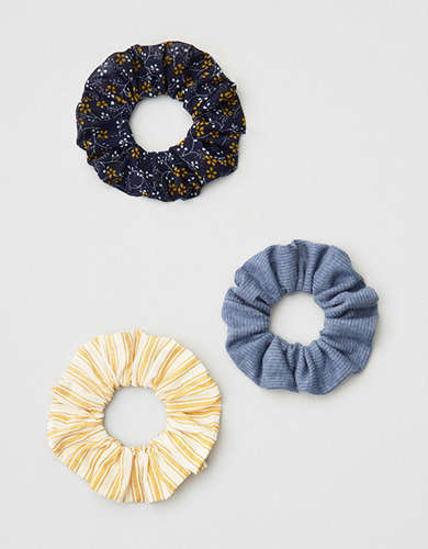 AE Floral & Blue Scrunchie 3-Pack -