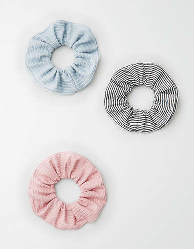 AE Solid & Stripe Scrunchie 3-Pack -