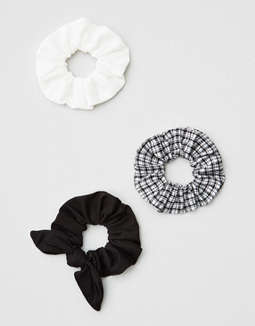 Aeo Black & White Scrunchie 3 Pack by American Eagle Outfitters