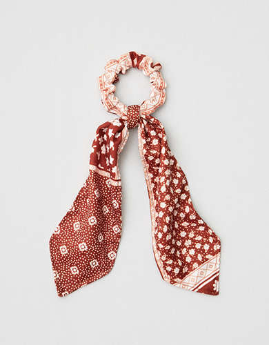 AE Rust Paisley Bow Scrunchie -