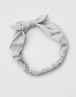 Ae Grey Bow Headband by American Eagle Outfitters