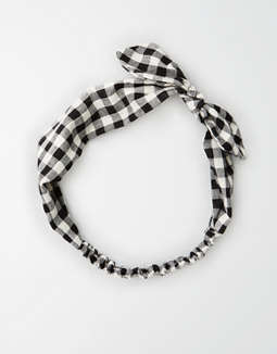 Ae Black Gingham Bow Headband by American Eagle Outfitters