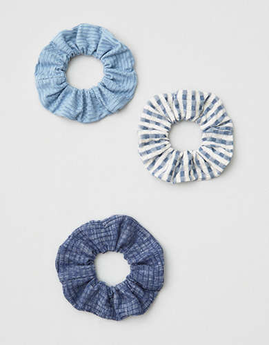 AEO Blue Scrunchie 3-Pack -