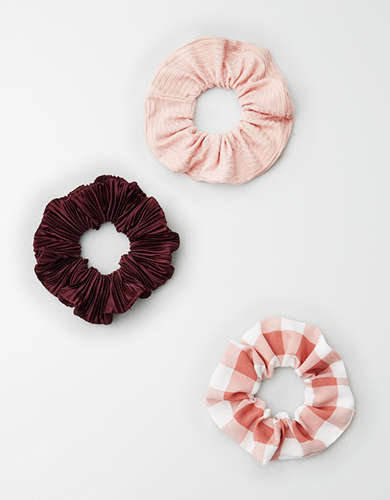 AE Light Pink Scrunchie 3-Pack -