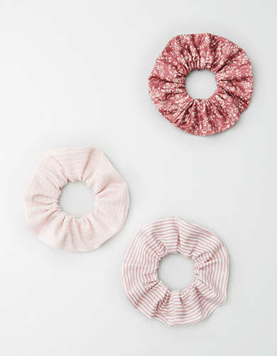 AE Blush Scrunchie 3-Pack -