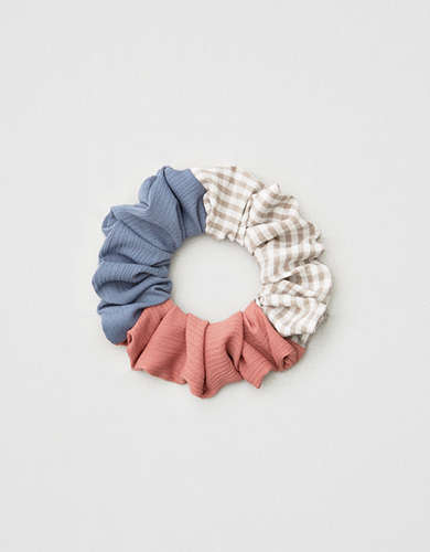 AE Gingham Patchwork Scrunchie -