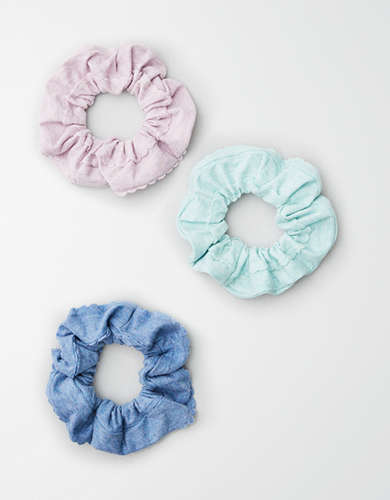 AE Scalloped Scrunchie 3-Pack -