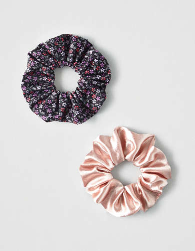 AEO Blush + Floral Scrunchies 2-Pack -