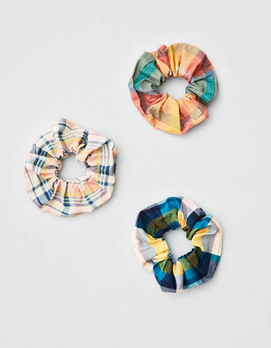 AEO Plaid Scrunchies 3-Pack -