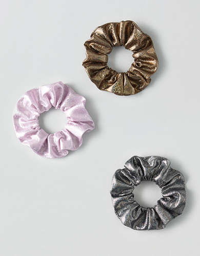 AEO Metallic Scrunchies 3-Pack -