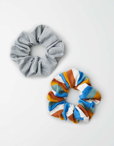 AE Striped Scrunchie 2-Pack -