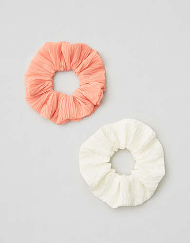 AE Cream and Coral Scrunchie 2-Pack -