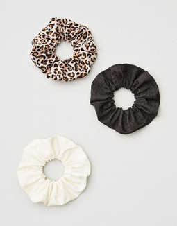 Ae Leopard Print Scrunchie 3 Pack by American Eagle Outfitters